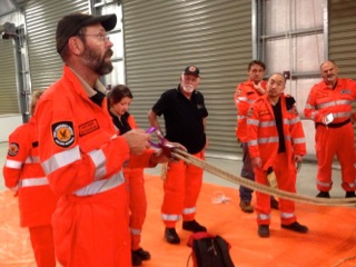 Gary taking questions from Swan SES members.